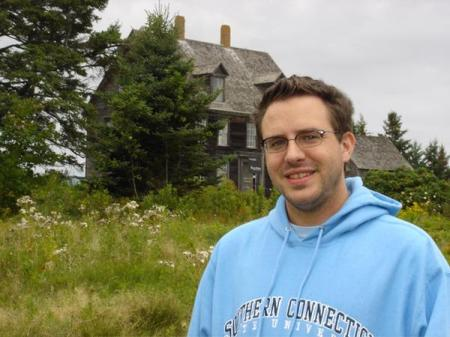 Me at the Olson's house in Cushing, ME where 'Christina's World' was painted